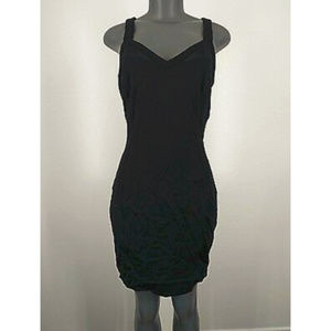Express Dress Black Sleeveless Sheer Sexy 10